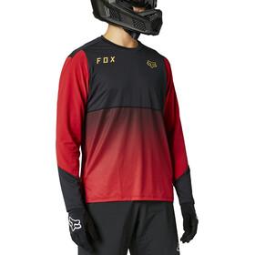 Fox Flexair LS Jersey Men, negro/rojo